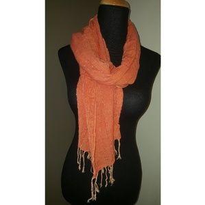 Neon orange scarf wrap